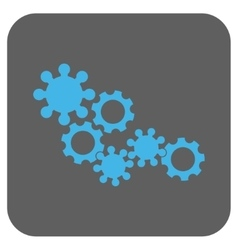 Gear mechanism rounded square icon vector