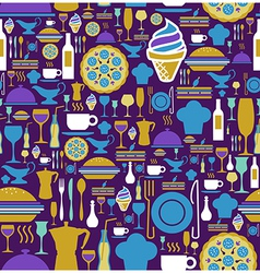 Gourmet icon set seamless pattern vector image vector image