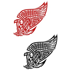 Griffin symbol in celtic style vector image