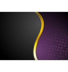 Grunge background and gold wave design vector