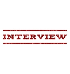 Interview Watermark Stamp vector image vector image