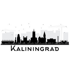 Kaliningrad russia city skyline silhouette with vector