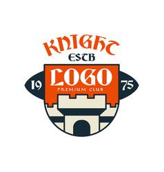 Knight escb logo premium club vintage badge or vector