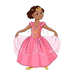 Little girl in the costume of princess vector