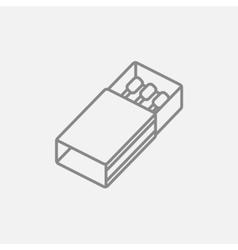 Matchbox line icon vector image