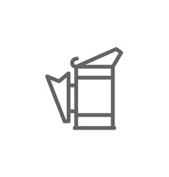simple beekeeping smoker line icon symbol and vector image