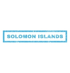 Solomon islands rubber stamp vector