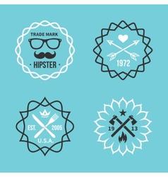 Vintage hipster labels vector image vector image