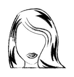 Young woman pop art character vector