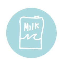 Milk box container carton icon vector