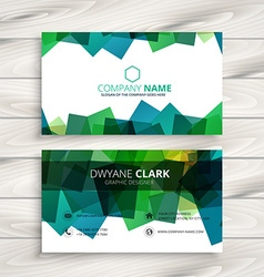 Modern business card with abstract shapes vector