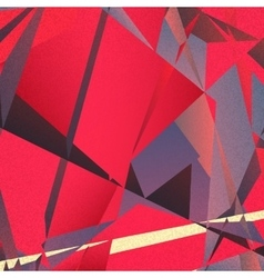 Retro geometric background with colorful triangles vector
