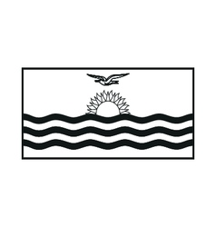Flag of kiribati monochrome on white background vector
