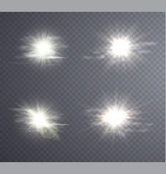 Abstract white sun flare vector