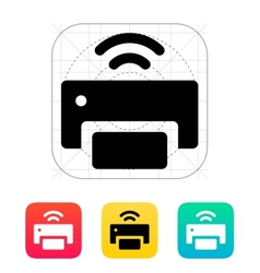 Wireless printer icon vector