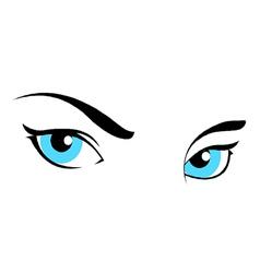 Girl women eyes vector
