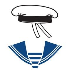 Mornarsko odelo vector image