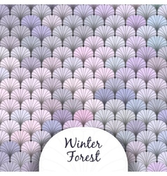 Winter forest scaly texture vector