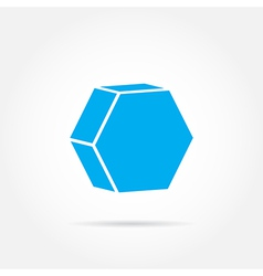 Emblem hexagon vector