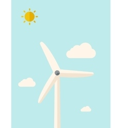 One windmill vector image