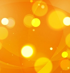 Abstract shapes swirl and lights orange background vector
