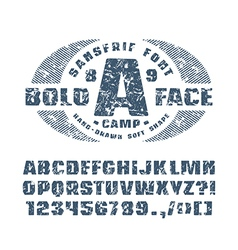 Sanserif font with hand drawn soft shape vector