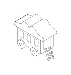 Wagon icon isometric 3d style vector