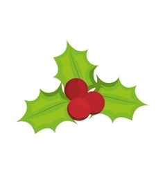 Decoration leaves icon merry christmas design vector
