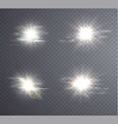 abstract white sun flare vector image vector image