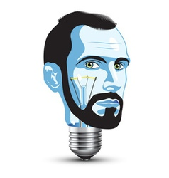 black light bulb vector image