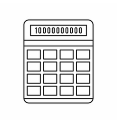 Calculator icon outline style vector image vector image