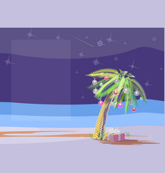 Christmas palm vector