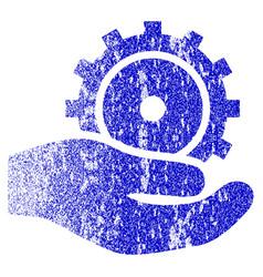 Development service grunge textured icon vector
