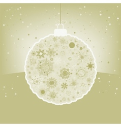 Elegant christmas ball with greeting eps 8 vector