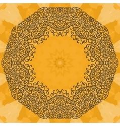 Elegant mandala-like frame on seamless texture vector