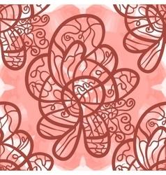 Fantasy eleganr outlined pattern seamless tile vector