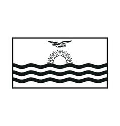 Flag of Kiribati monochrome on white background vector image vector image
