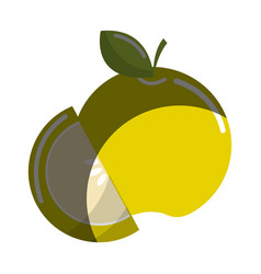Green apple fruit icon stock vector