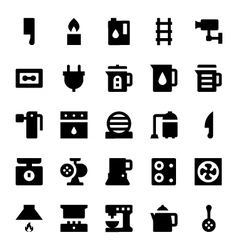 Home appliances icons 6 vector