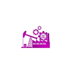 Industry icon modern design flat style vector