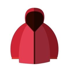 Isolated winter jacket design vector image vector image