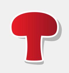 Mushroom simple sign new year reddish vector