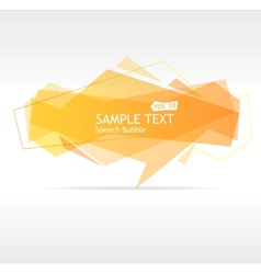 orange speech template vector image vector image