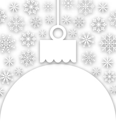 Paper Christmas ball with snowflakes textured vector image vector image