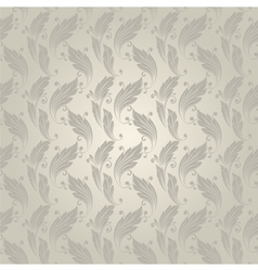 seamless pattern with a vintage leaves vector image