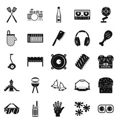 sentiment icons set simple style vector image