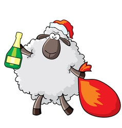 Sheep - santa vector