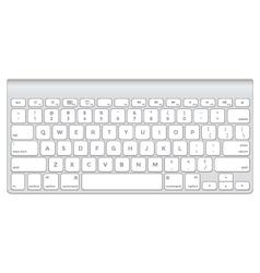 Short aluminum computer keyboard vector