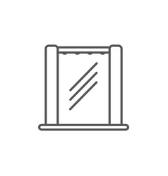 shower cabin isolated icon in linear style vector image