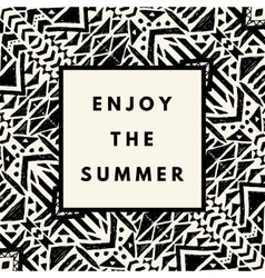 Summer hipster boho background vector